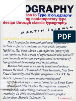 The Art of Typography - An Introduction to Typo.icon.Ography, By Martin Solomon