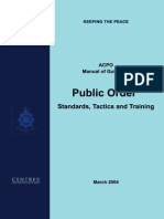 Acpo Manual of Guidance Public Orders Standars, Tactics and Training