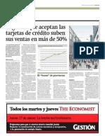 Negocios con tarjetas de crédito subieron ventas 50%_Gestión 26-03-2014
