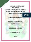PORTAFOLIO RECREACIÓN INFANTIL