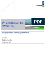 DNV Marine Operations Rules for Subsea Lifts