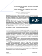Categorizacion Social de La Prostituta en Roma