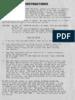 Unimill Manual