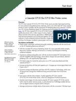 HP Color LaserJet CP1515n/CP1518ni Printer Series