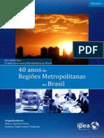 Livro 40 Anos Regioes Metropolitanas IPEA