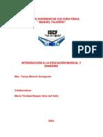 Intro Duc Ion a La Educacion Musical y Danzaria