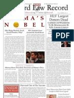 Harvard Law Record, V. 129 N. 4, October 22, 2009