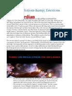 Sri Lanka Motions &Amp Emotions