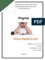 Program Disgrafia La Copii