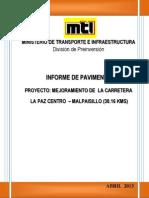 Informe de diseño de pavimento LPAZ C - MALPAISILLO 19042013