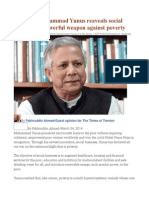 Opinion Muhammad Yunus Reaveals Social Business as Powerful Weapon Against Poverty
