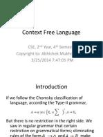 Context Free Language1