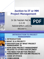 Multimedia Project Management - intro