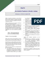 Algerie - Droits Auteur