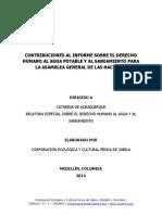 2014 Cuestionario Relatora Del Derecho Al Agua - Colombia