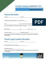 2014 bioinnovation academy application form