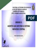 Unidad II, Farmacos Que Actuan en El Snc