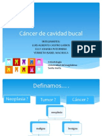 Expo Cancer de Cavidad Oral