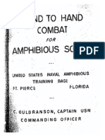 Hand to Hand Combat for Amphibious Scouts
