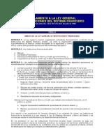 Ecuador Reglamento Ley Entidades Financieras de 1994