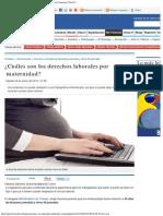 ¿Cuáles son los derechos laborales por maternidad_ - mis finanzas _ Perú 21
