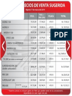 Lista de Precios 2014