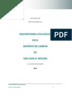 Descripciones Litolôgicas en San Juan