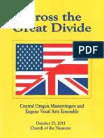 Across the Great Divide Program