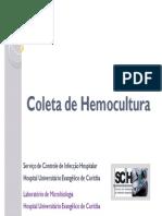 Coleta de Hemocultura
