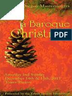 A Baroque Christmas Program