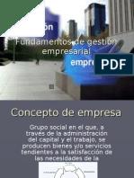 Fundamentos de gestión empresarial (concepto de empresa)