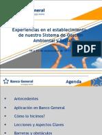 Implementación de Sistema de Gestión Ambiental en Banco General - Panamá
