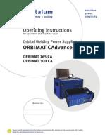 Manual de Funcionamiento Orbimat 300 CA