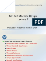 ME-328 Machine Design - Lecture 7
