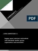 core competency number ten example