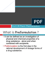 Pharmaceutical Pre Formulation
