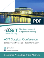 ASiT Conference Abstract Book, Belfast 2014