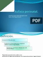 Asfixia perinatal.