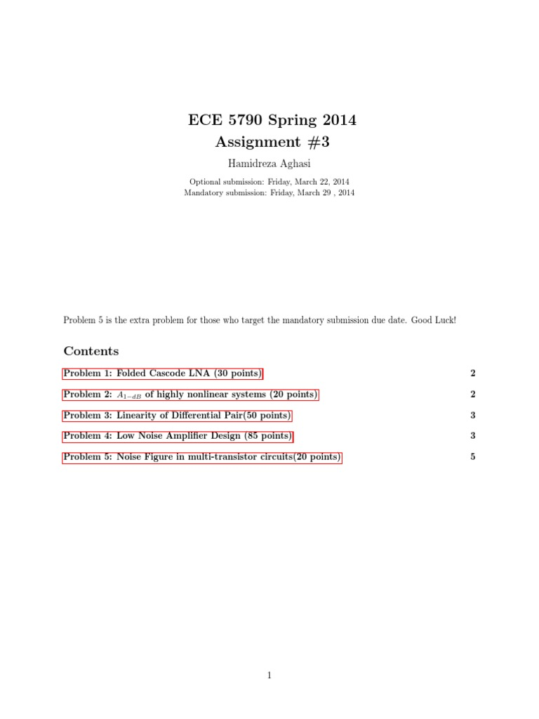 Cornell ECE 5790: RF Integrated Circuit Design Assignment 3