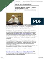 """""""Die Ehepastoral muß auf der Wahrheit gründen"""" – Antwort Benedikts XVI. auf Rede von Kardinal Kasper › Katholisches.info"""