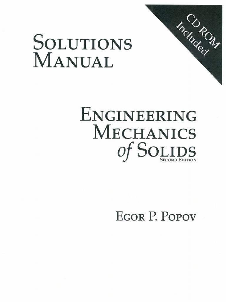 solucionario mecanica de solidos egor popov rh scribd com engineering mechanics of solids popov solution manual engineering mechanics of solids popov solution manual