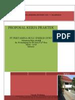 Proposal Kerja Praktek PT Pertamina Hulu Energi ONWJ