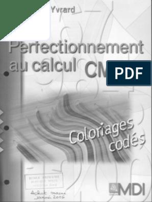 Coloriage Magique Cm2 Pdf.Mdi Perfectionnement Au Calcul Cm2 Coloriages Codes Zecol