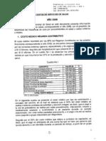 Costo de Servicio en Salud Colombia