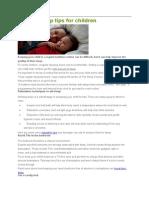 Healthy Sleep Tips for Children