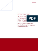 Introducing Adaptive Learning for Enterprise