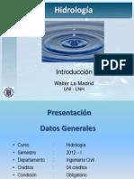 1 - Introduccion Hidrologia