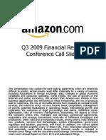 AMZN Q3 2009 Earnings Presentation