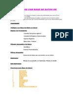 Base de Datos Excel