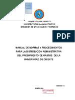 4 Manual de n y p Para La Dist Administrativa Gastos-Vers 1 0 Enero 2009
